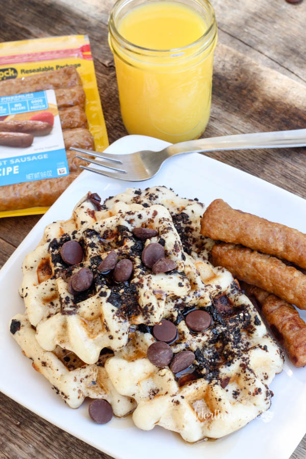 ... ! - Oatmeal Buttermilk Waffles with Crushed Oreos & Marcona Almonds