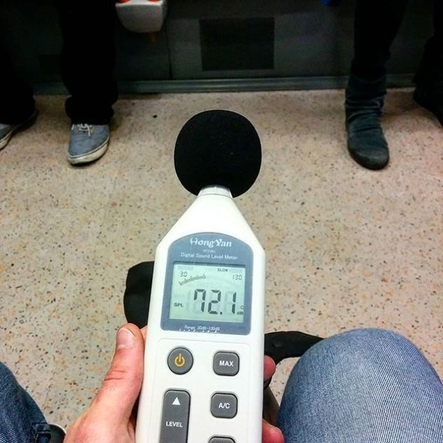 I recently bought a sound pressure meter, to check mixing level amd the overall loudness in different environments, such as road traffic and inside the tube.I still believe #NoisePollution affects our life negatively.#BetterFuture #London