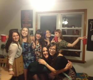 The frattiest party I've ever been to. It wasn't at a frat. We hid from the boys.