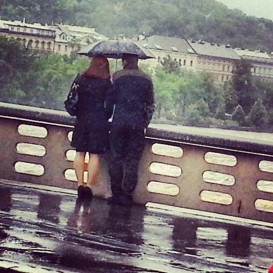 Vltava river rising