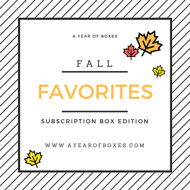 Fall Favorites 2016 – Subscription Box Edition