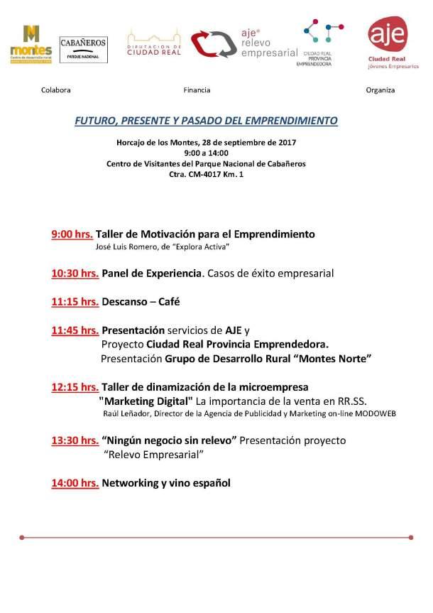 PROGRAMA JORNADA HORCAJO DE LOS MONTES 28-09