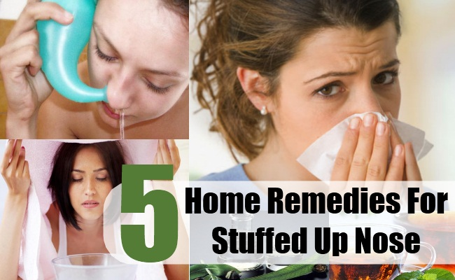 Home Remedies For A Stuffed Up Nose