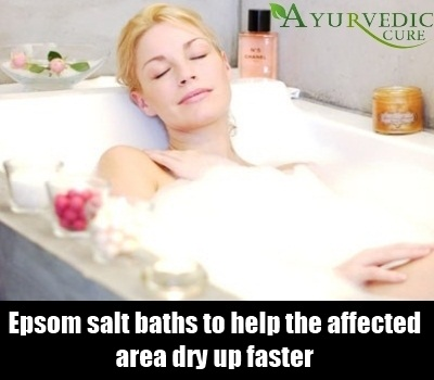 epsom bath in tub