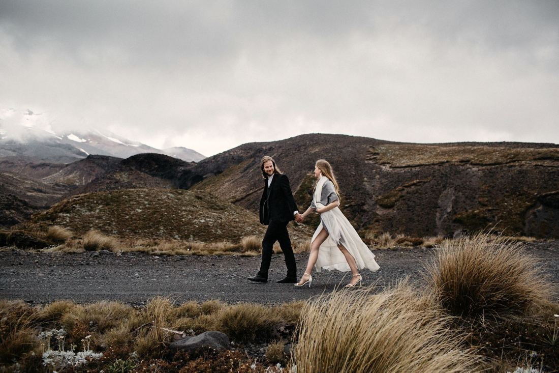 intimate mountain wedding iceland
