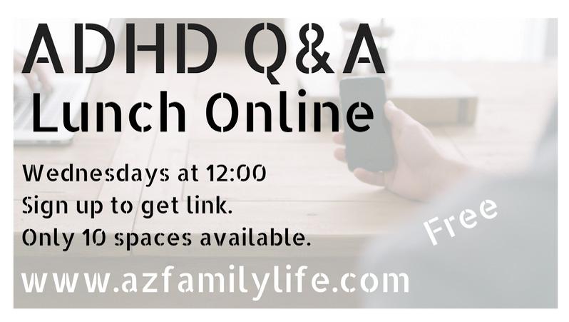ADHD Q&A, Wednesdays at 12:00