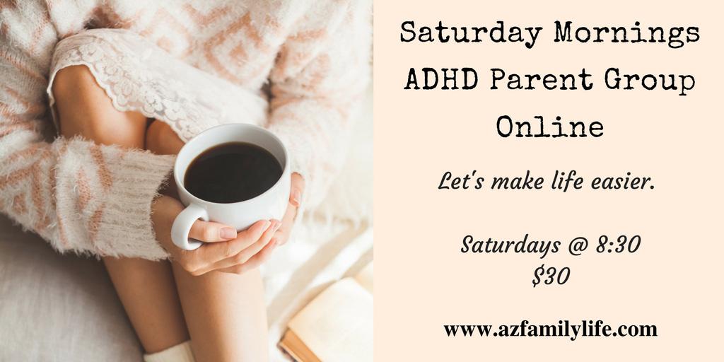 Online Parent Group Saturdays at 8:30