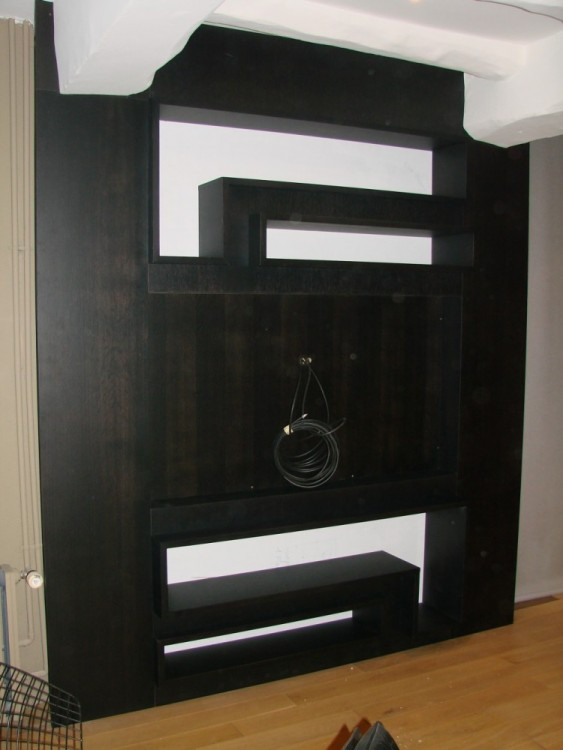 meuble tv bibliotheque sur mesure – Artzein.com