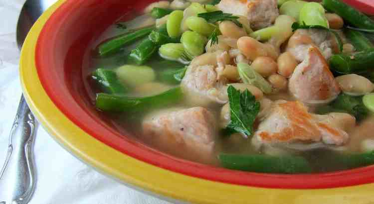 Pork three-bean soup