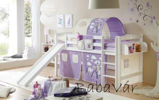 Csúszdás emeletes ágy 90×200 : Hercegnős