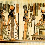 Egyptian papyrus, Pharaon offering