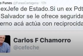 Pleito en Twitter: Carlos Fernando Chamorro Vs Mauricio Funes (ex-presidente de El Salvador)