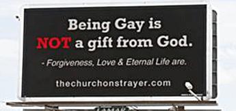 Strayer Church anti-gay billboard