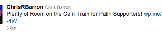 Chris Barron Cain Train
