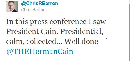 Herman Cain Chris Barron