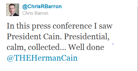 Herman Cain Chris Barron