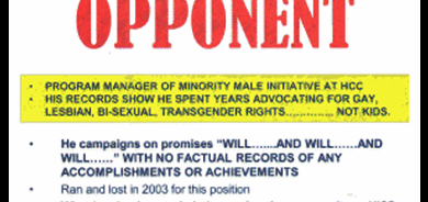 anti-gay flyer