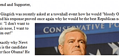 Newt Gingrich bloody