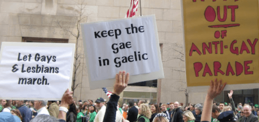 st paddys protest