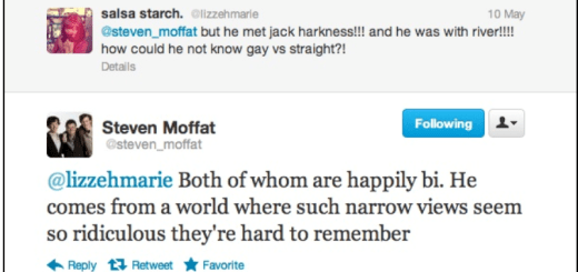 Steven Moffat River Song is Bisexual