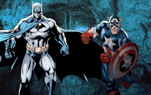 Batman and Capt. America