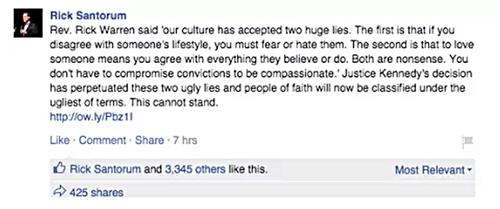 Rick Santorum Facebook