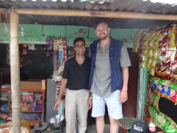 Perna and I outside his shop in Pokhara. (Nepal, 2016).