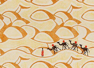 Edward Bawden Camels Wallpaper detai.5586ca23f55f9708a94d9585fd885a032544