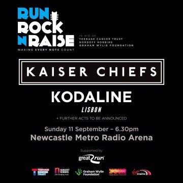 Run Rock n Raise announce their line up: Kaiser Chiefs, Kodaline & Lisbon