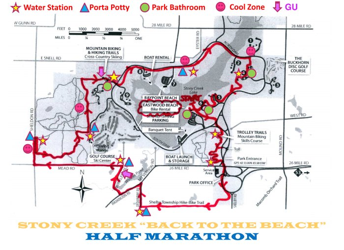 Back to the Beach Half Marathon Course Map