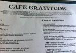 Cafe Gratitude -Menu