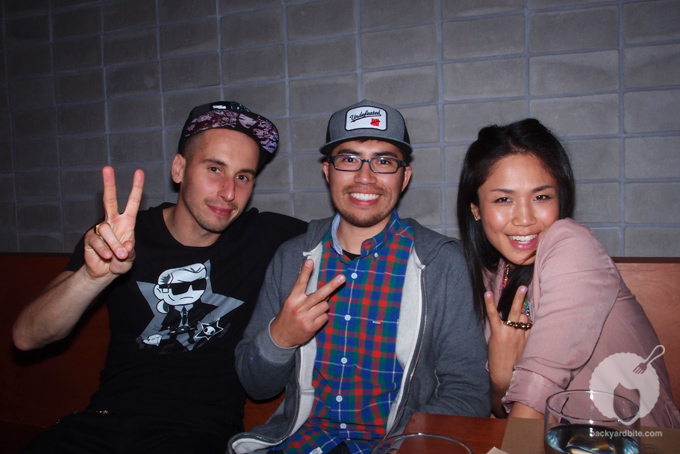 Artist/ Stüssy designer Jorge Oswaldo with Artist/ Tokidoki creator Simone Legno with his gal Kaori Matsumoto