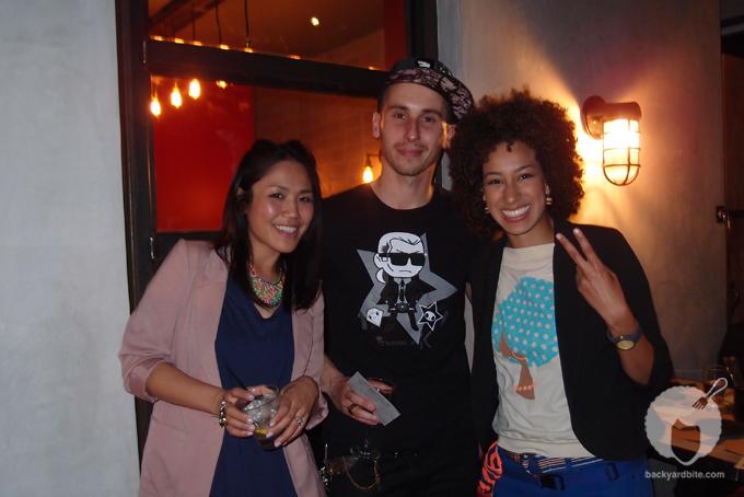 Amy Shuster (@backyardbite) with Tokidoki creator Simone Legno and his gal Kaori Matsumoto