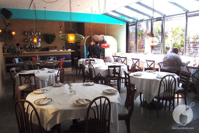 The evening dining area @ Sunny Spot