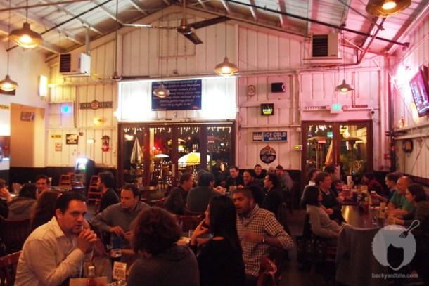 Inside Golden Road Brewery