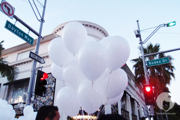 "The intersection of ""Dîner en Blanc"" on Rodeo Drive and Dayton, Beverly Hills CA"