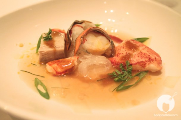 indochine-style poached keahole lobster