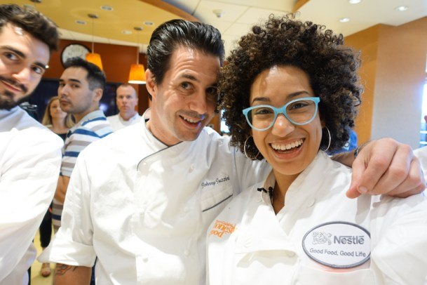 Amy Shuster with chef Johnny Iuzzini
