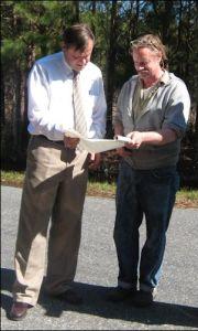 G.C. Morrow (right) with Del.  Keith Hodges, R-Urbanna.