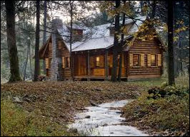 Cabin in the woods -- looking better and better.