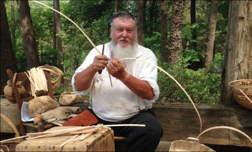 Clyde Jenkins, maker of white oak baskets