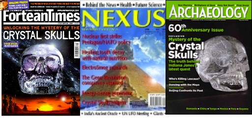 A few popular magazines (with mixed archaeological merit!) have featured articles about the crystal skulls