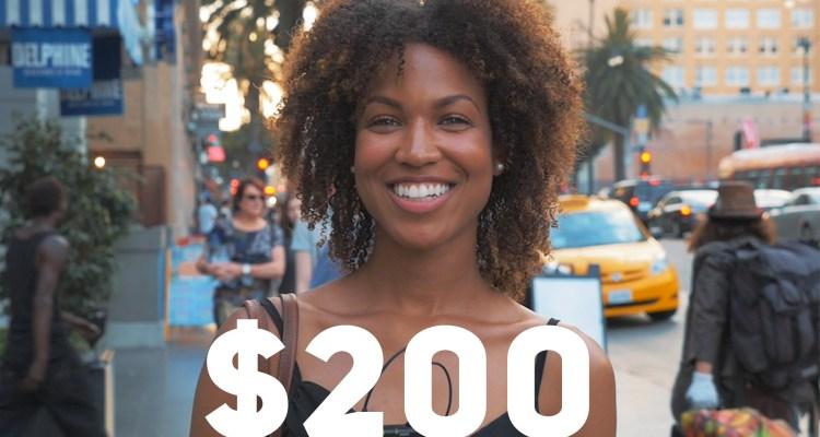 $200 money homeless