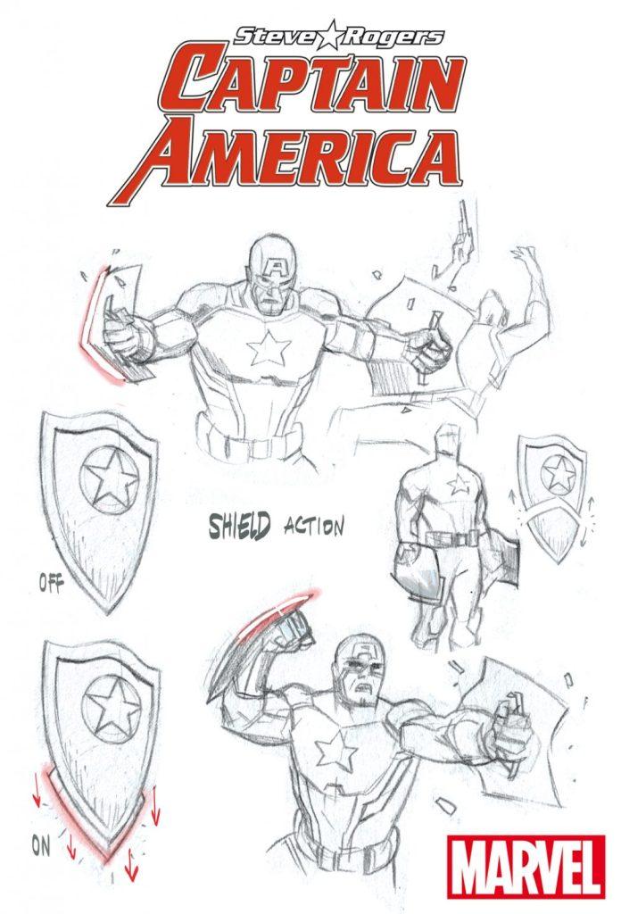 Captain America Steve Rogers, studi di Daniel Acuña 02
