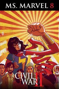 Ms. Marvel #8, copertina di Cameron Stewart