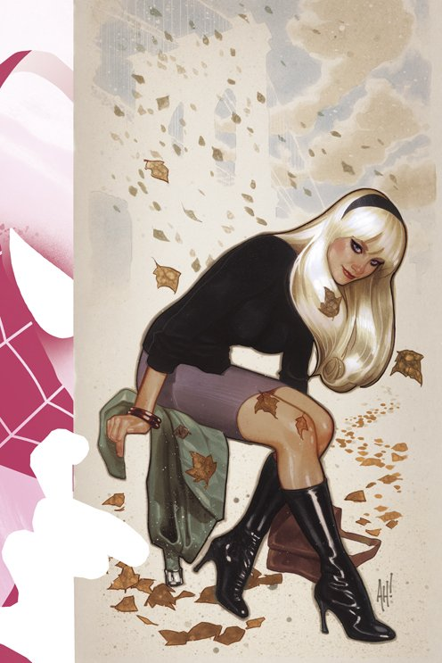 Spider-Gwen #1, variant cover di Adam Hughes