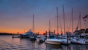 Boston Harbour Sunset