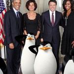 I Pinguini di Madagascar col Presidente Obama e in fila per acquistare l'iPhone 6 in alcune fan art