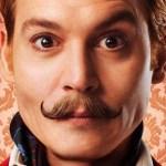 Tutti i baffuti character poster di Mortdecai, commedia con Johnny Depp