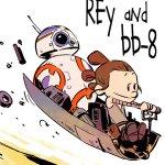 I personaggi di Star Wars: Il Risveglio della Forza illustrati in stile Calvin & Hobbes